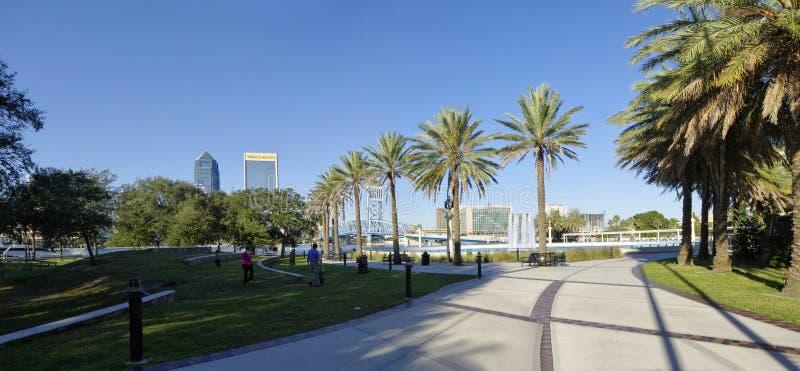 Paisagem de Jacksonville do centro em Florida, EUA imagem de stock royalty free