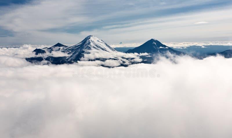 Paisagem de Kamchatka. imagem de stock