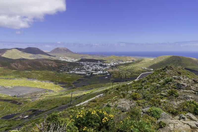 Paisagem de Lanzarote foto de stock