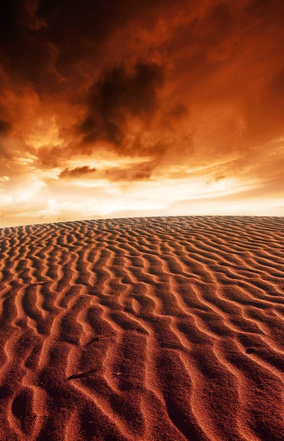 Paisagem de Marte fotografia de stock