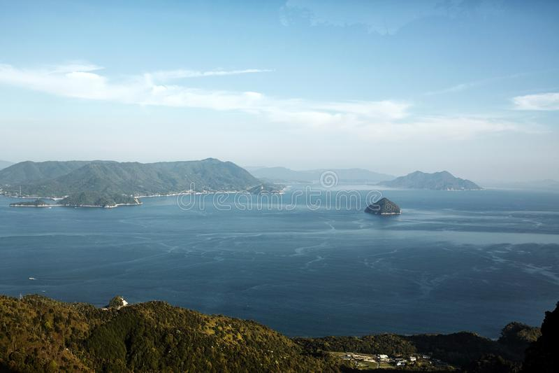 Paisagem de Miyajima, Japão vista de cima de fotos de stock royalty free