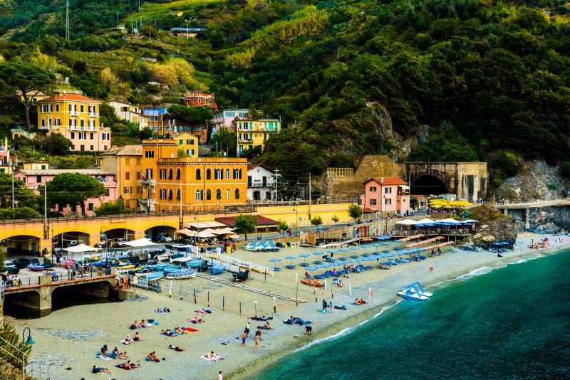 Paisagem de Monterosso Cinque Terre Italy imagens de stock