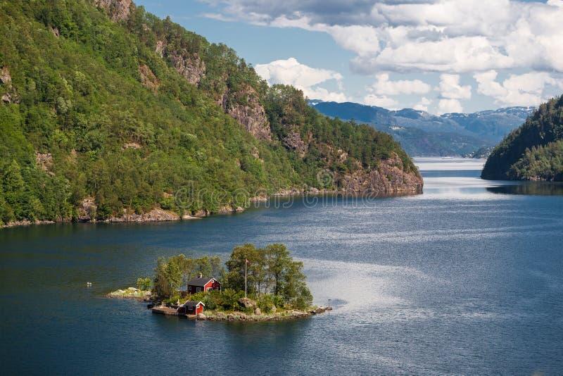 Paisagem de Noruega fotografia de stock