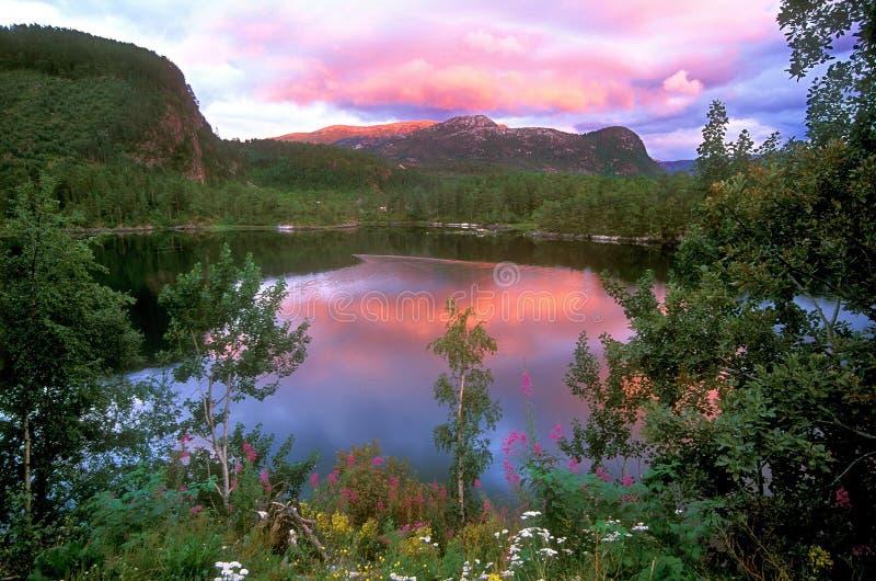 Paisagem de Noruega imagens de stock royalty free