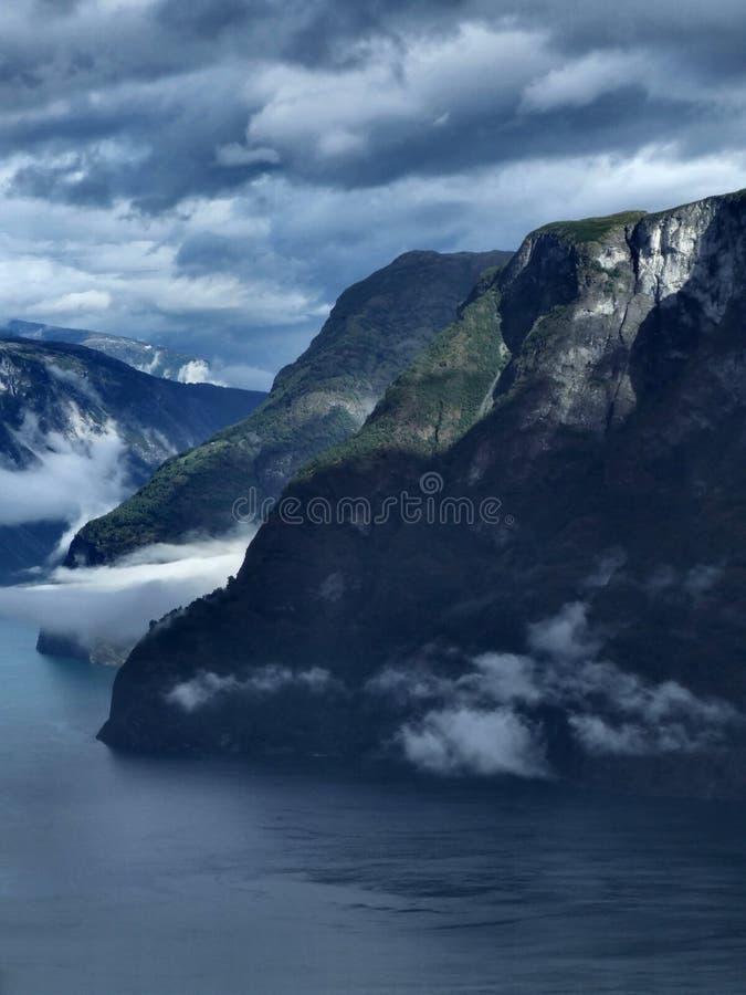 Paisagem de Noruega - fjord foto de stock royalty free