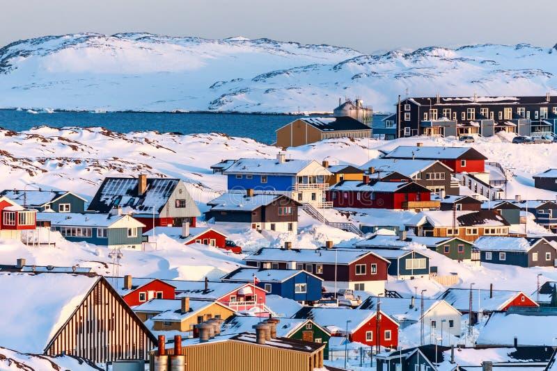 Paisagem de Nuuk fotografia de stock royalty free