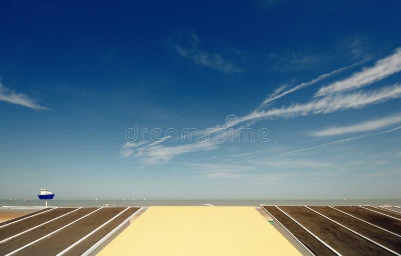 Paisagem de Oostende imagens de stock