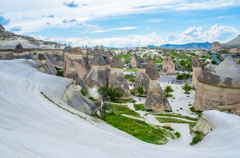Paisagem de pedra de Cappadocia imagens de stock royalty free