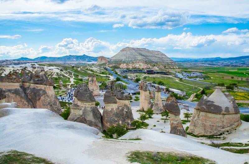 Paisagem de pedra de Cappadocia fotografia de stock