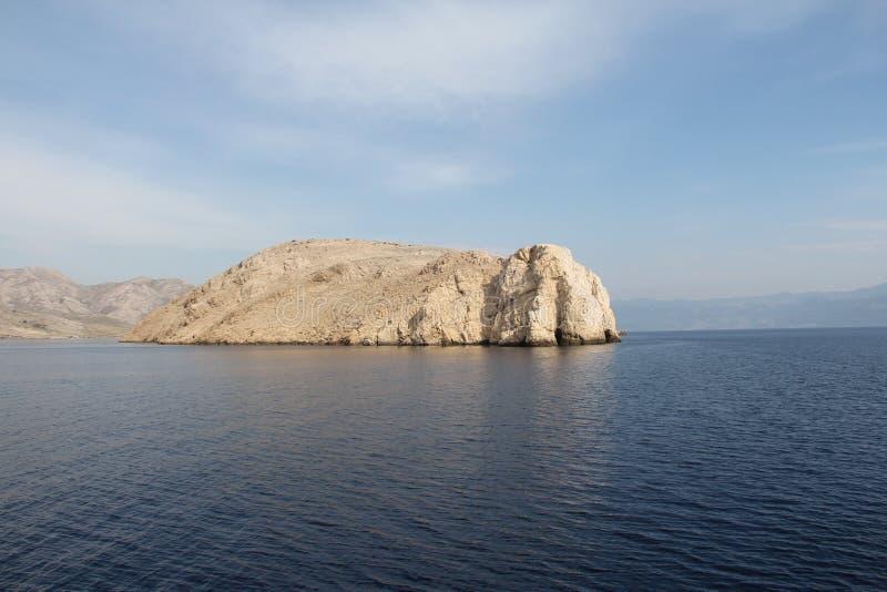 Paisagem de pedra da ilha fotos de stock royalty free