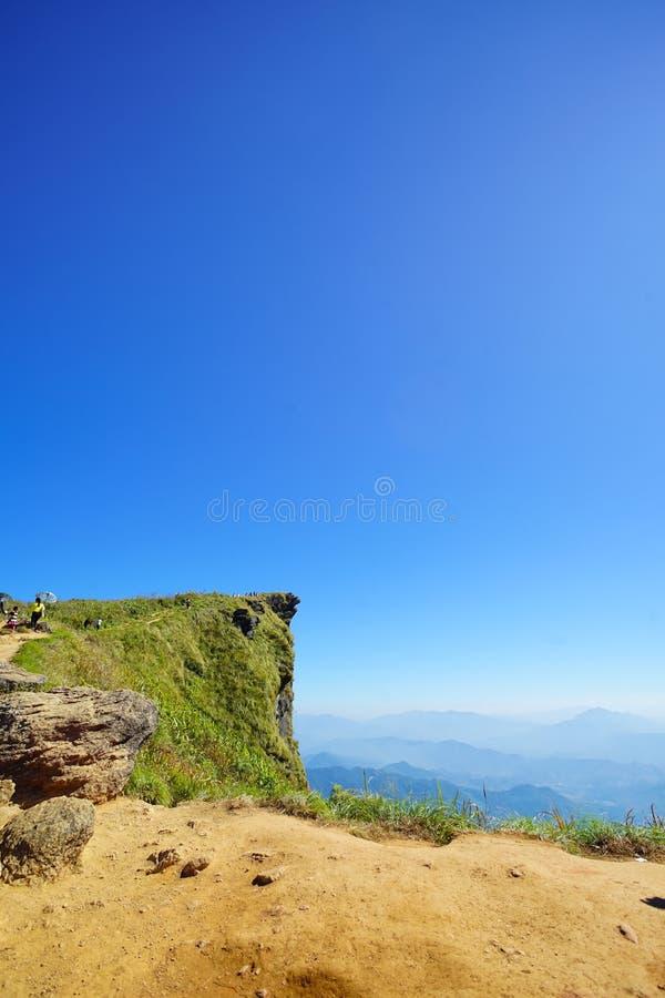 Paisagem de Phu Chee Fa, Chiang Rai Thailand foto de stock