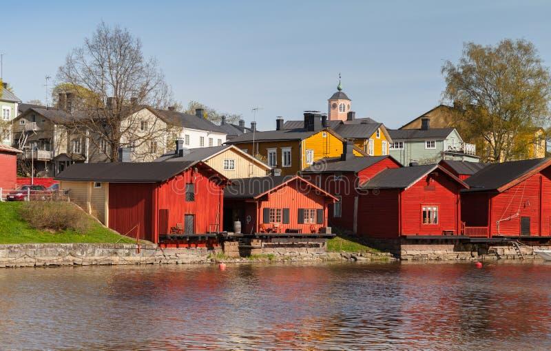 Paisagem de Porvoo, Finlândia fotografia de stock