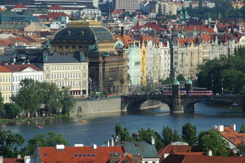 Paisagem de Praga fotografia de stock