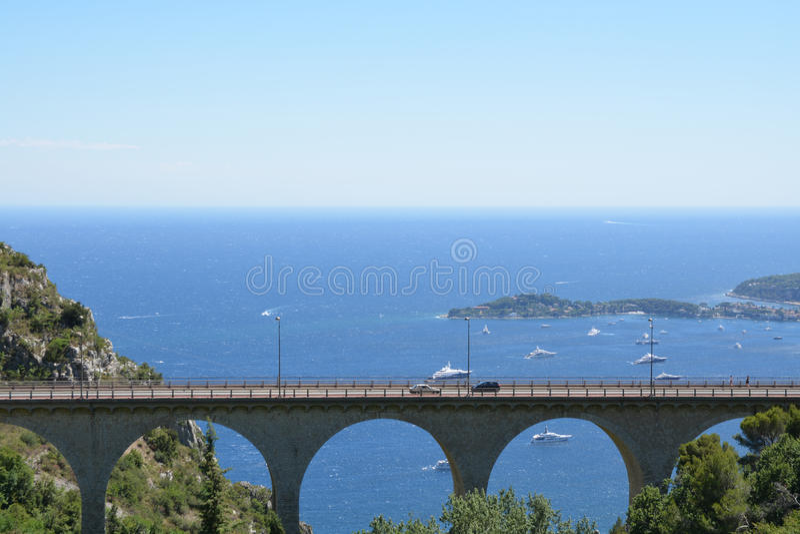 Paisagem de Provence - Eze fotos de stock royalty free