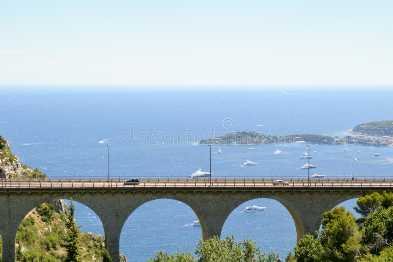 Paisagem de Provence - Eze imagem de stock royalty free