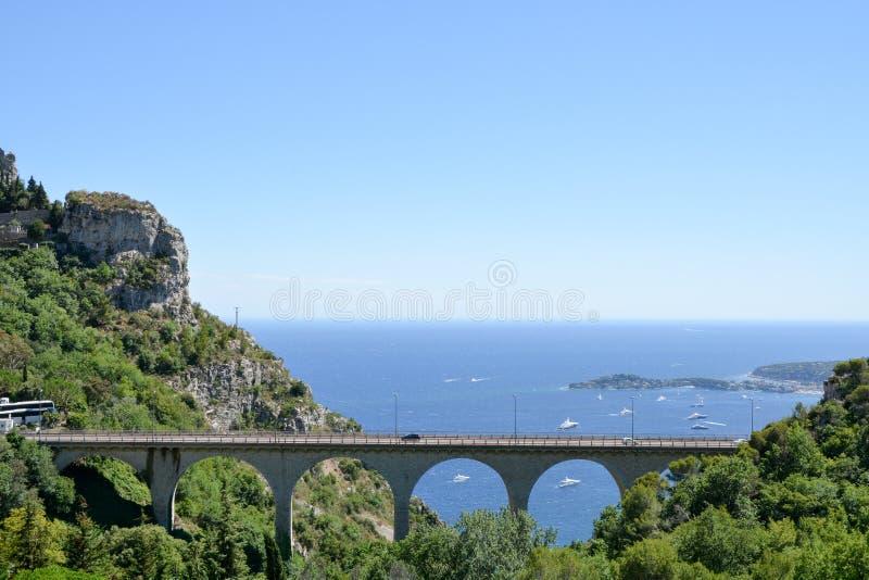 Paisagem de Provence - Eze imagens de stock