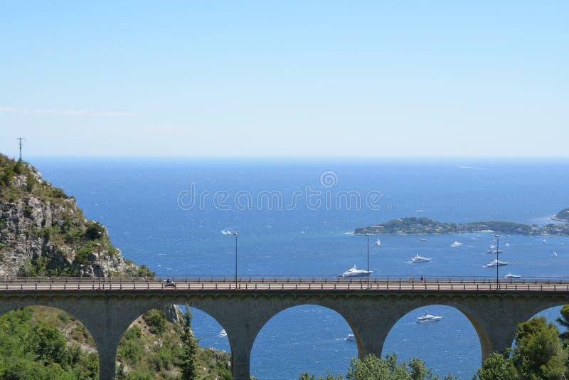 Paisagem de Provence - Eze fotografia de stock
