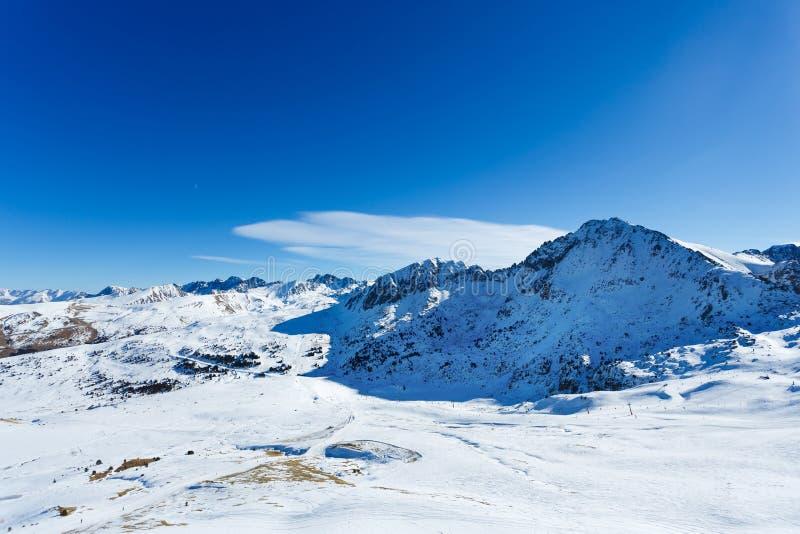 A paisagem de Pyrenees foto de stock