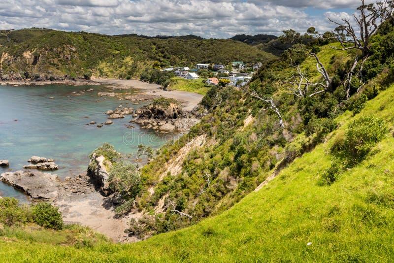 Paisagem de Russell perto de Paihia, baía das ilhas, Nova Zelândia imagens de stock royalty free