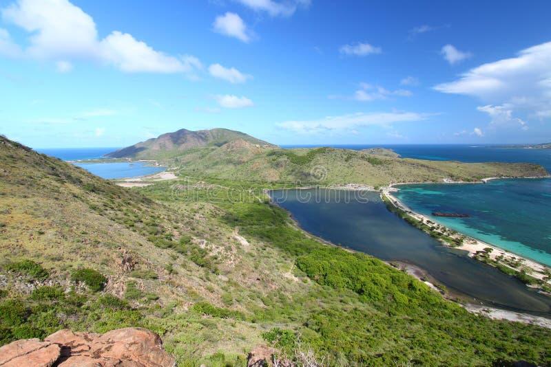 Paisagem de Saint Kitts foto de stock