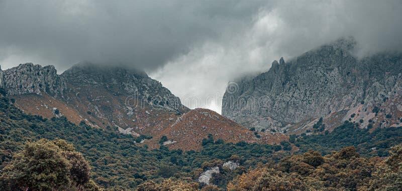 Paisagem de Sierra de Tramuntana, Maiorca, Espanha imagens de stock