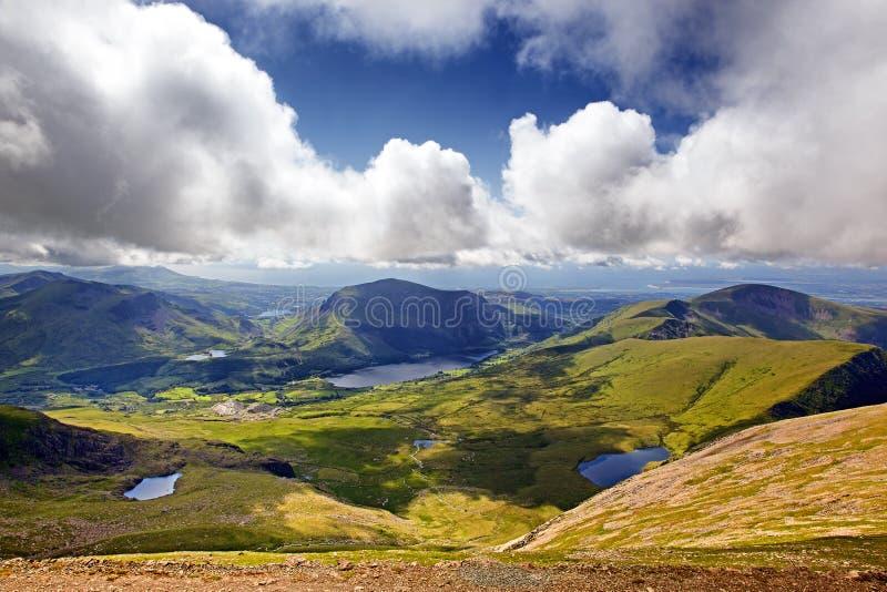 Paisagem de Snowdonia foto de stock