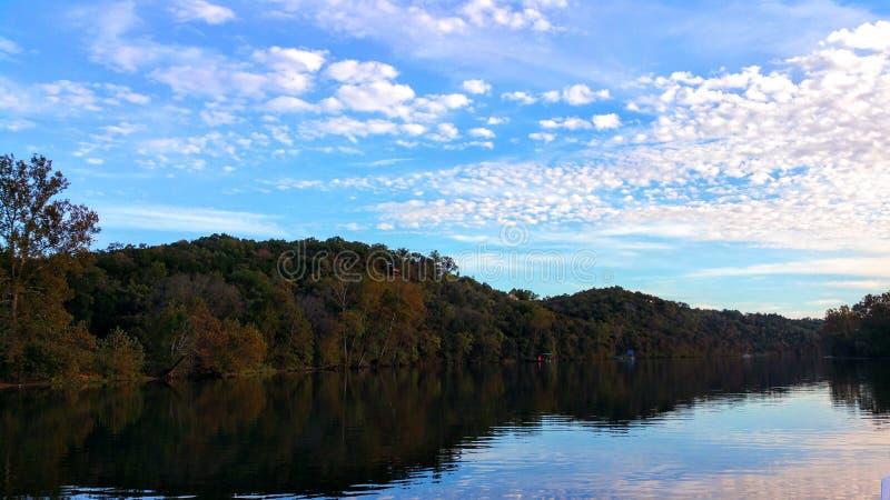 Paisagem de Taneycomo do lago imagens de stock