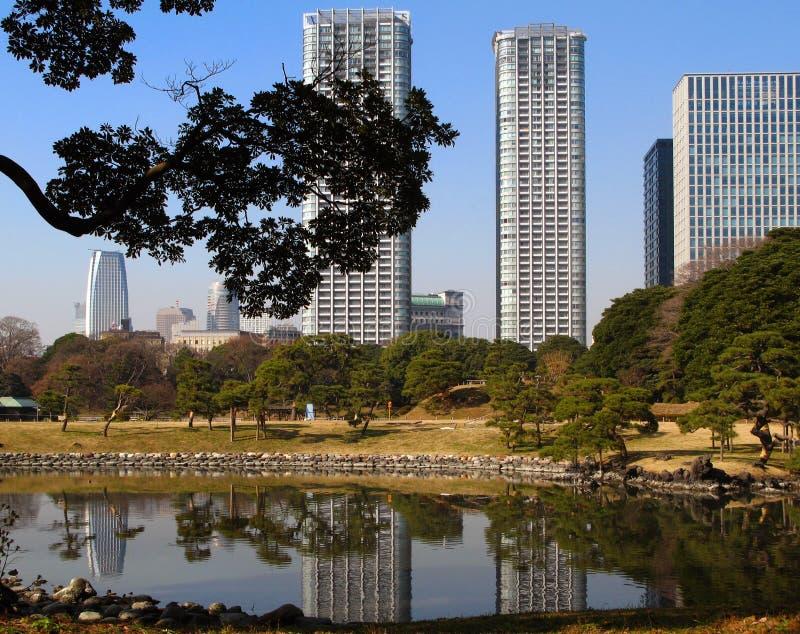 Paisagem de Tokyo, Japão foto de stock royalty free