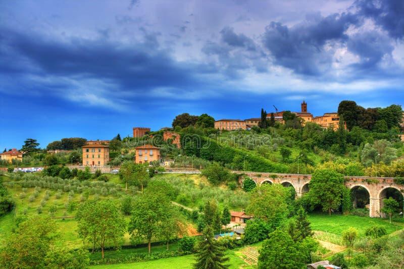 Paisagem de Toscânia, Italy fotografia de stock royalty free