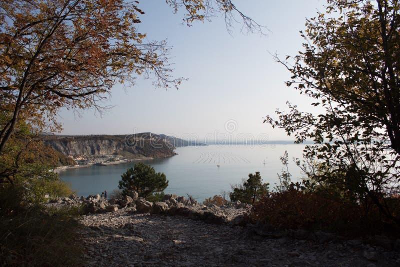 Paisagem de Trieste foto de stock