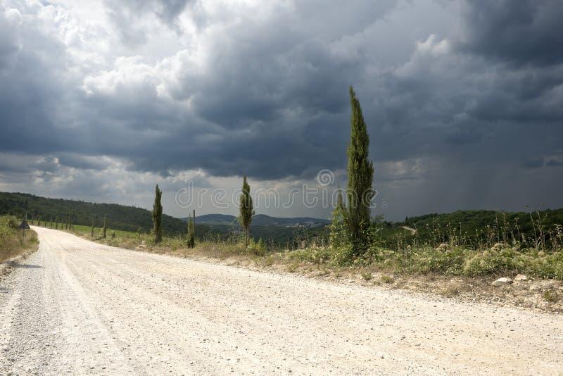 Paisagem de Tuscan fotos de stock royalty free