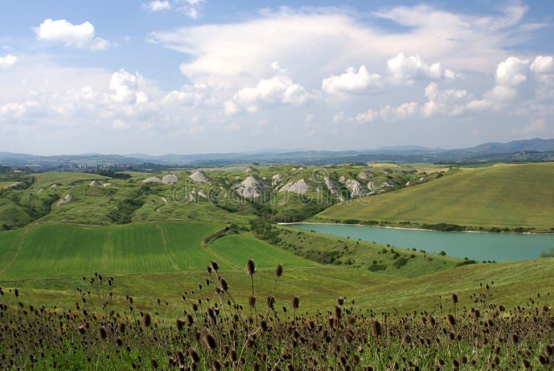 Paisagem de Tuscan em maio foto de stock