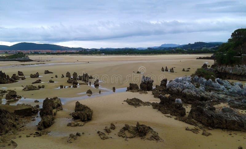 Paisagem de uma praia foto de stock royalty free