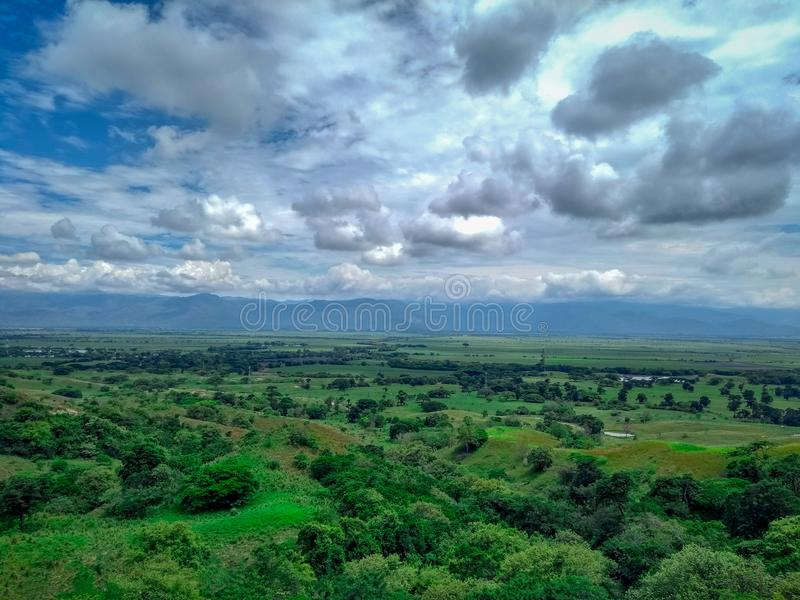 Paisagem de Valle del Cauca foto de stock