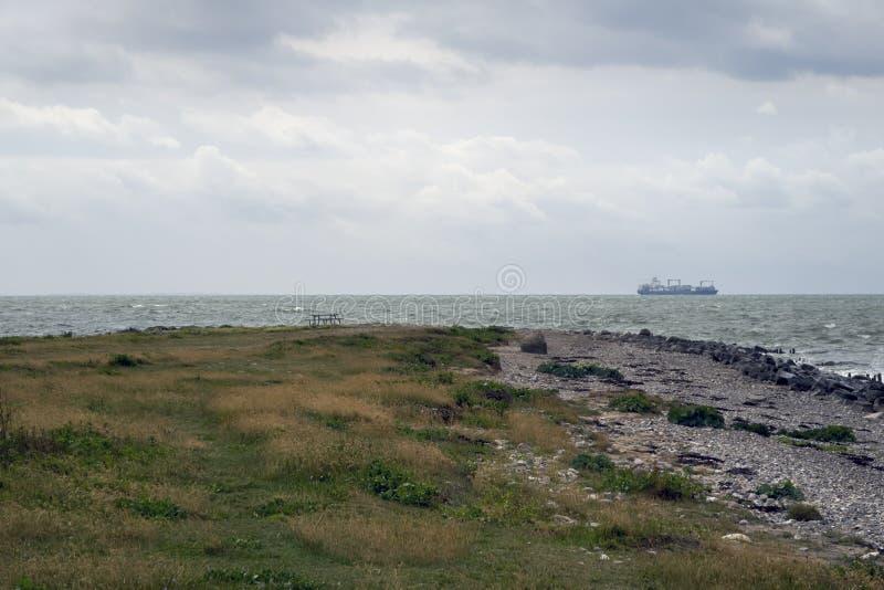 Paisagem dinamarquesa do litoral imagem de stock