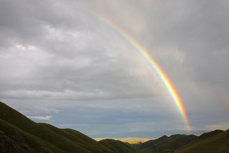 Paisagem do arco-íris foto de stock royalty free