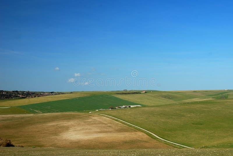 Paisagem do campo de Sussex/para o sul de Inglaterra fotografia de stock