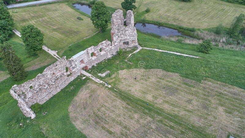 Paisagem do campo na vista aérea foto de stock royalty free