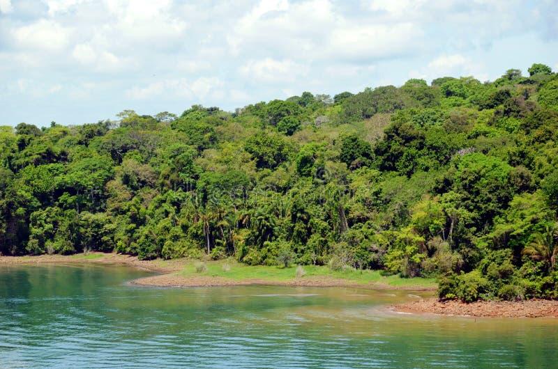 Paisagem do canal do Panam? fotografia de stock royalty free