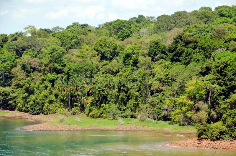 Paisagem do canal do Panam? fotos de stock royalty free