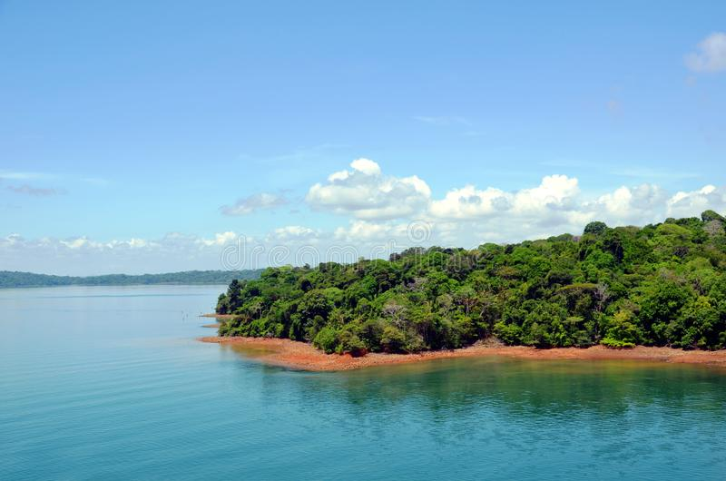 Paisagem do canal do Panam? imagens de stock