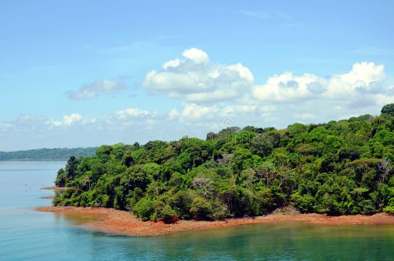 Paisagem do canal do Panam? imagens de stock royalty free