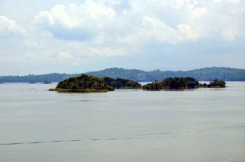Paisagem do canal do Panam? foto de stock
