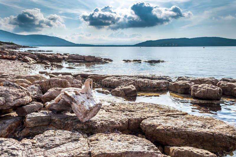 Paisagem do Capo Caccia da costa foto de stock