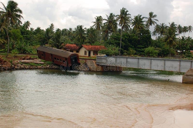 paisagem do Cargo-tsunami em Sri Lanka fotografia de stock