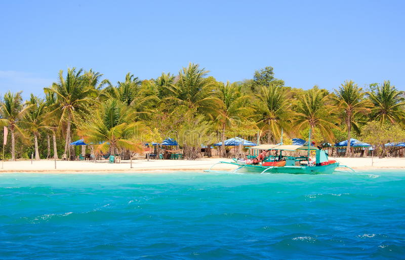 Paisagem do console tropical Ilha de Coron filipinas foto de stock