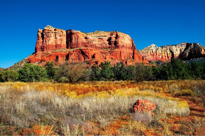 Paisagem do deserto da montanha de Sedona o Arizona foto de stock
