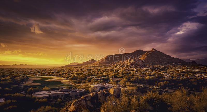 Paisagem do deserto de Scottsdale o Arizona, EUA fotos de stock