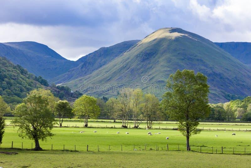 paisagem do distrito do lago, Cumbria, Inglaterra fotografia de stock royalty free