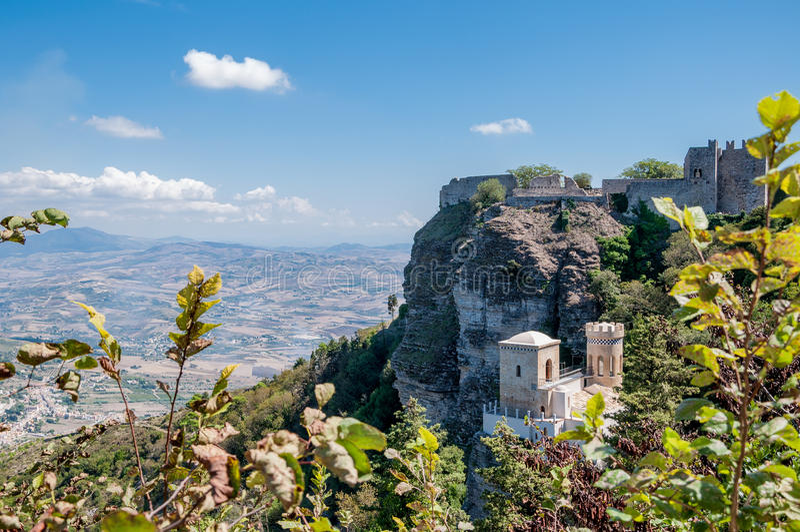 Paisagem do Erice, Sicília, Itália foto de stock royalty free